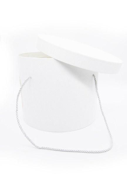 Beyaz Yuvarlak İpli Kutu (25X25) - Thumbnail