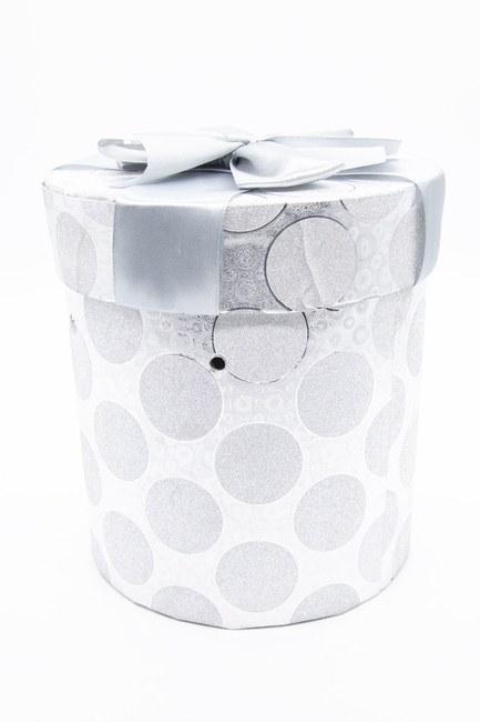 MIZALLE HOME - Grey Round Glossy Box (20X20) (1)