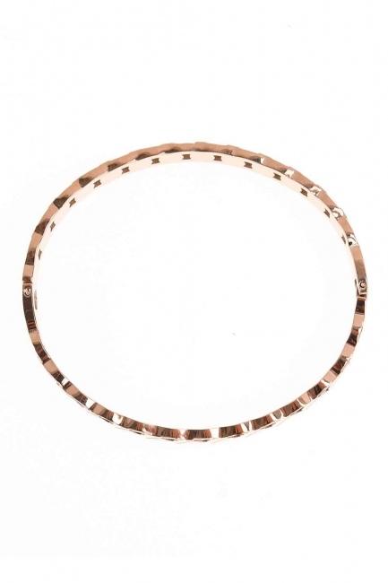 MIZALLE - Zincir Desenli Çelik Bileklik (St) (1)