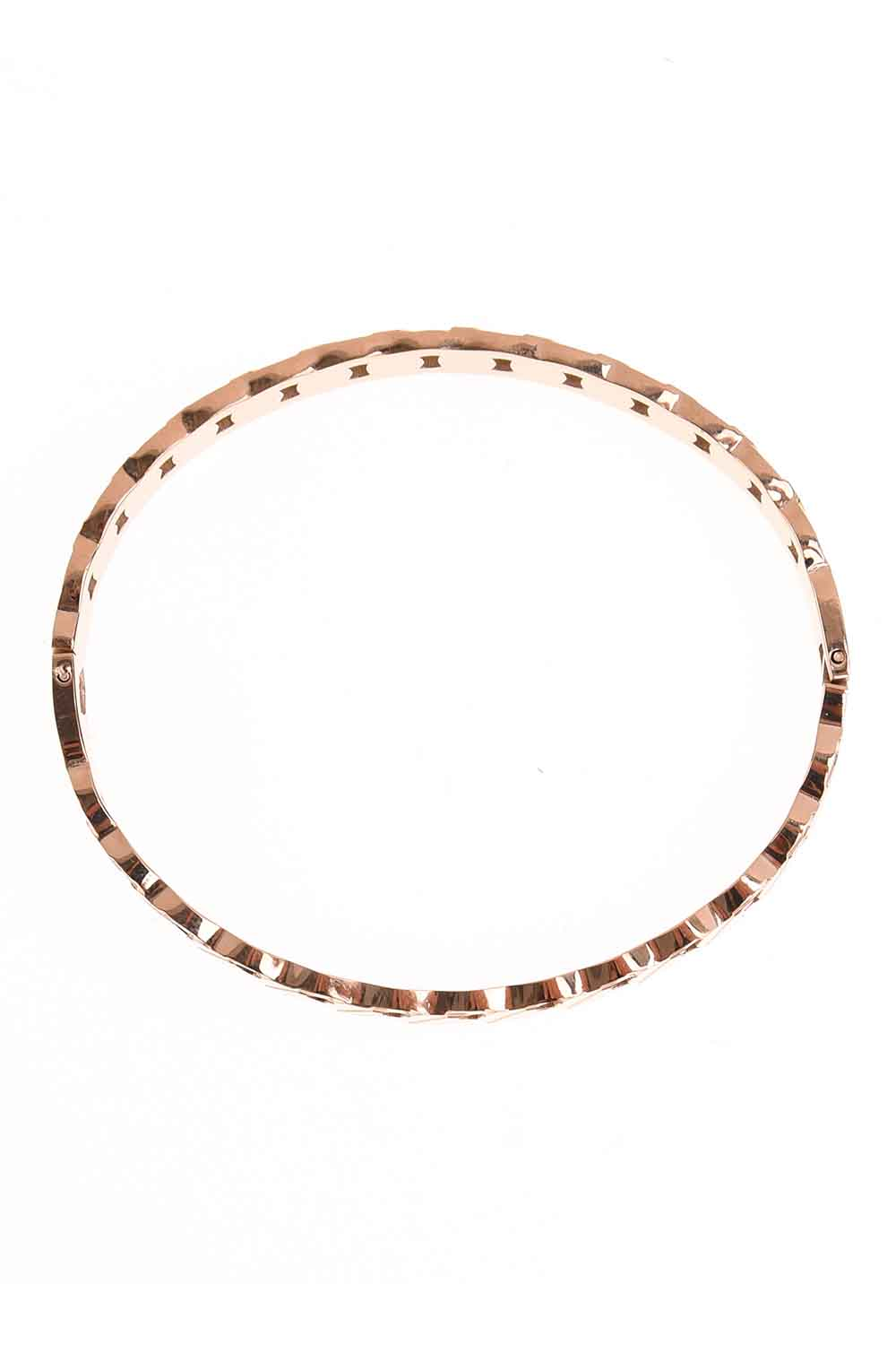 MIZALLE Chain Patterned Steel Bracelet (St) (1)