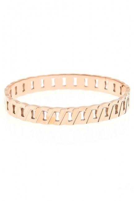 Chain Patterned Steel Bracelet (St) - Thumbnail