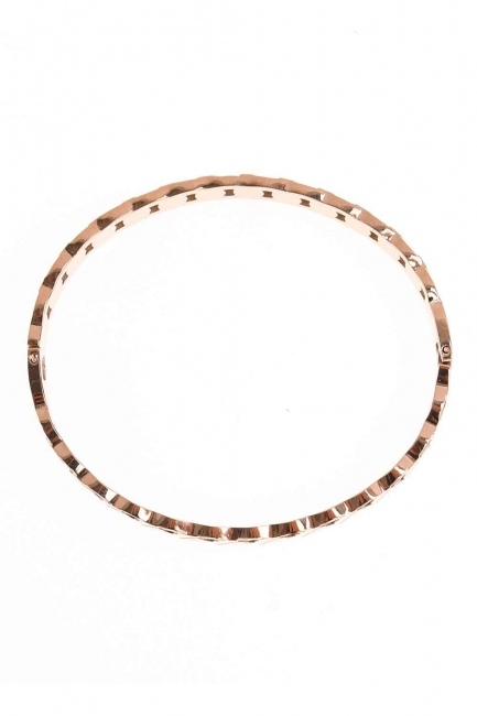 MIZALLE - Chain Patterned Steel Bracelet (St) (1)