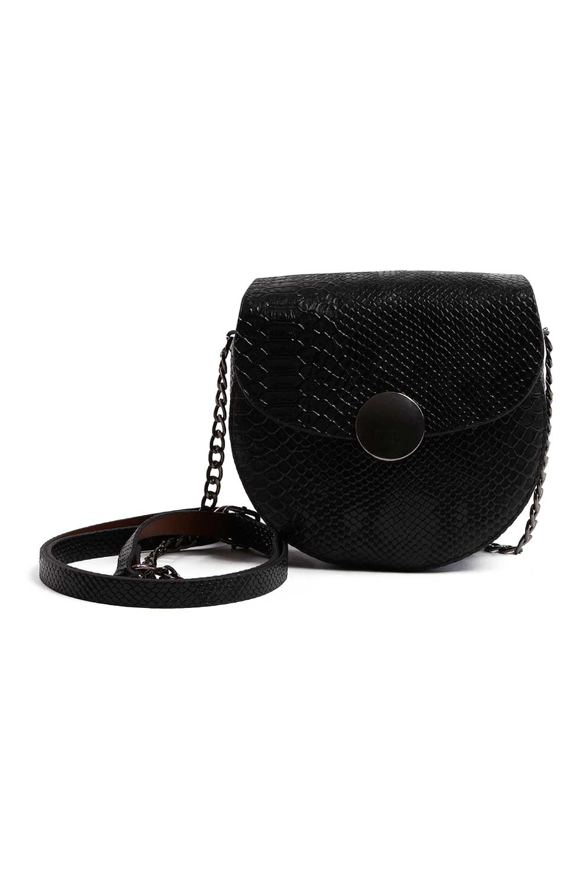 MIZALLE Chain Patterned Women Shoulder Bag (Black) (1)