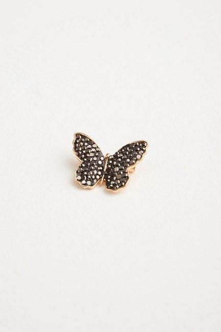 MIZALLE - Zirkon Taşlı Kelebek Broş (St) (1)