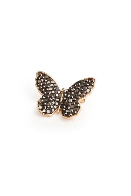 Zirkon Taşlı Kelebek Broş (St) - Thumbnail