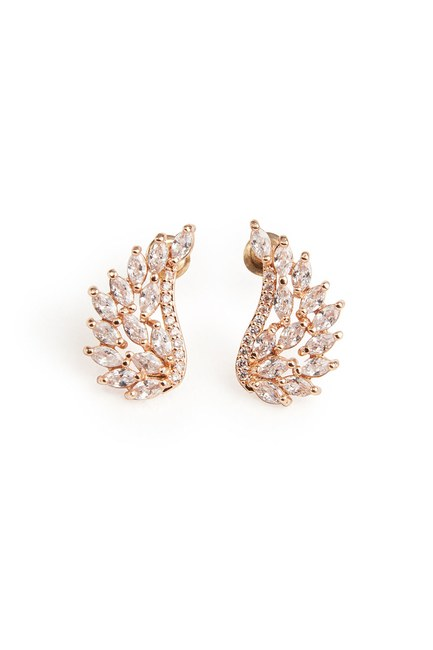 MIZALLE - Zircon Angel Winged Earrings (Gold) (1)
