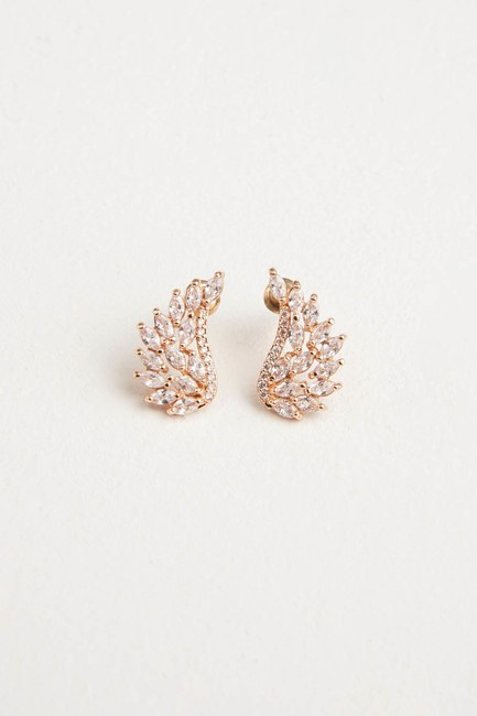 MIZALLE - Angel Winged Earrings (Yellow) (1)